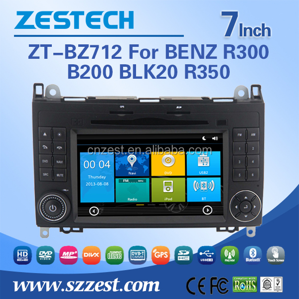 Double din 7 inch car radio player for Mercedes Benz W245 2012 2011 2010 2009 2008 2007 car dvd gps with car TV radio audio