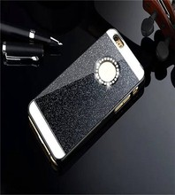 Bling Glitter Sparking Mobile Phone Case Back Cover Hard Shell for iphone 4 / 4S/ 5 / 5S / 6 / 6 Plus for Samsung