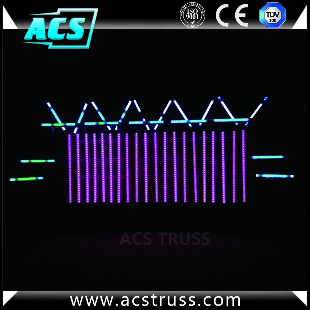 ACS led pixel tube lighting/Nebula disco 3d effect Led Meteor Shower Rain tube lights, dmx tubes,madrix pixel tubes