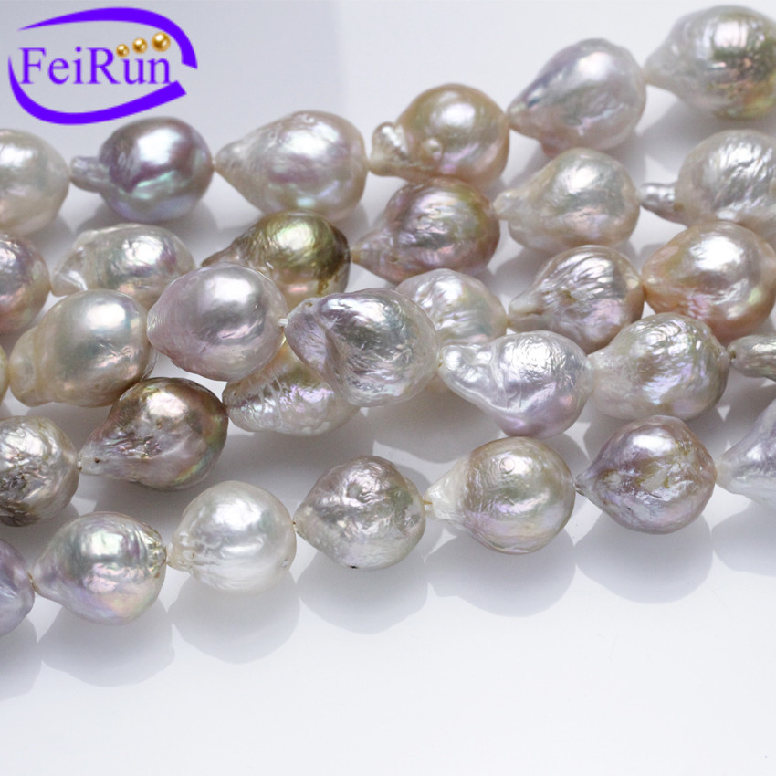 pearl luster with fwp high shaped large flameball nucleated item strand aaa irregular grade shape pearls baroque loose no pear fireball freshwater
