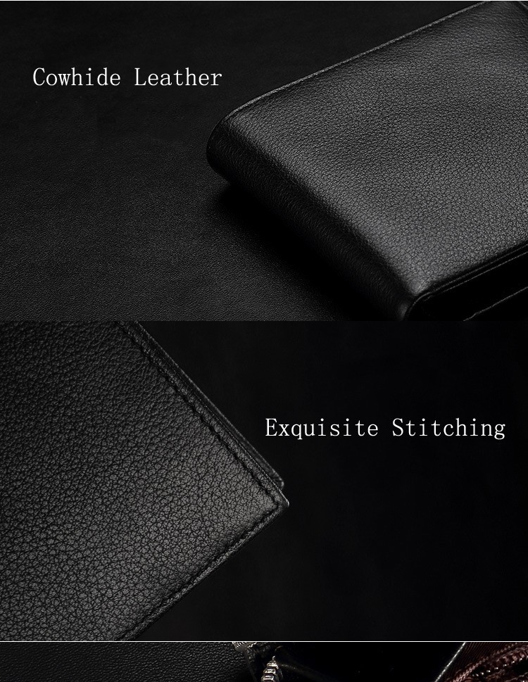 2017 Electronic Smart Wallet for Mens New Design Fashion With Genuine Leather Anti-lost Wallet