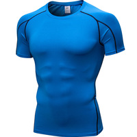 2019 New Design Men Short Sleeve T-Shirt Fitness Quick Dry Breathable Running Sports T-shirt