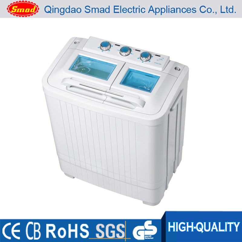 6kg semi-auto national portable mini twin tub washing machine