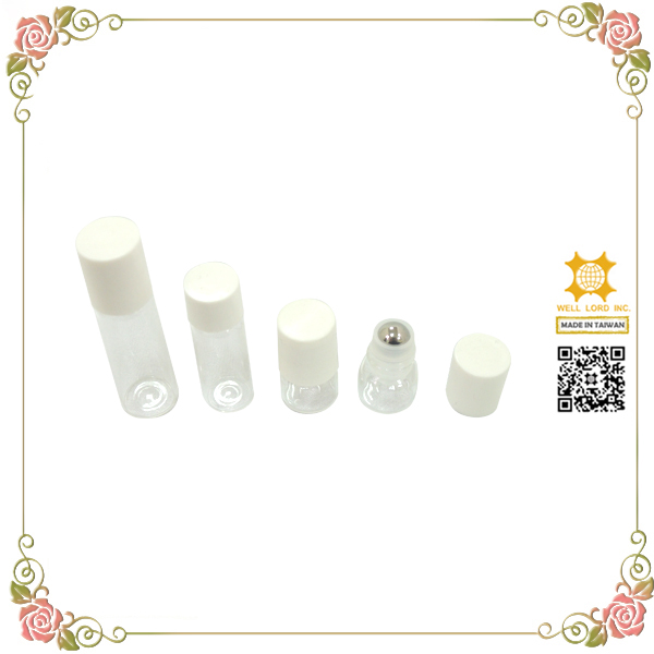Exquisito lip gloss roller ball pequeñas botellas de vidrio transparente