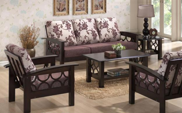 Induscraft Designer Wooden Sofa Set - Buy Online Furniture Store ...