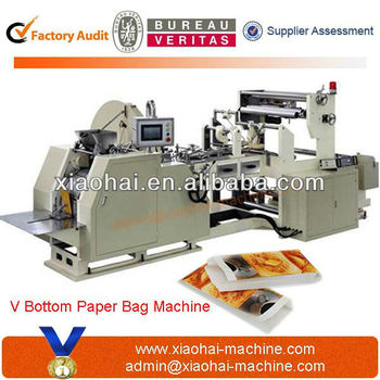 HAS VIDEO Fully Automatic Paper Bag Making Machine for KFC Food french fries grease proof