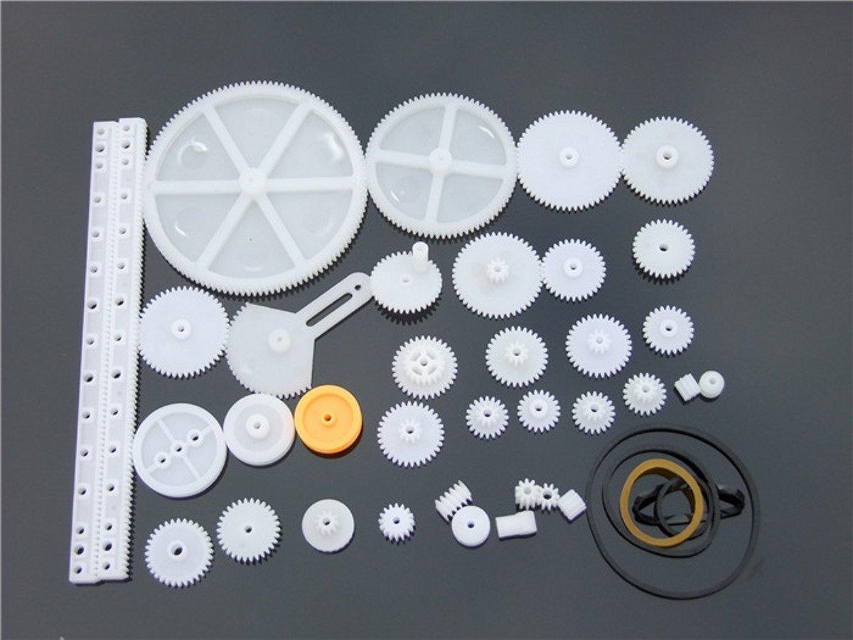 WellieSTR Plastic Gears/gear rack / pulley belt Worm Single double rod metal kit shaft For Robot DIY