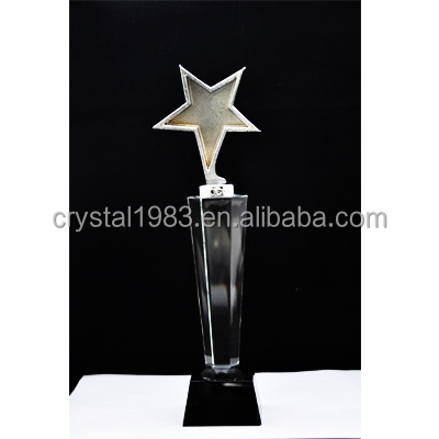 Custom K9 crystal trophy wholesale new design crystal trophy and awards TA7244 Ruiliang Crystal Handcraft Factory