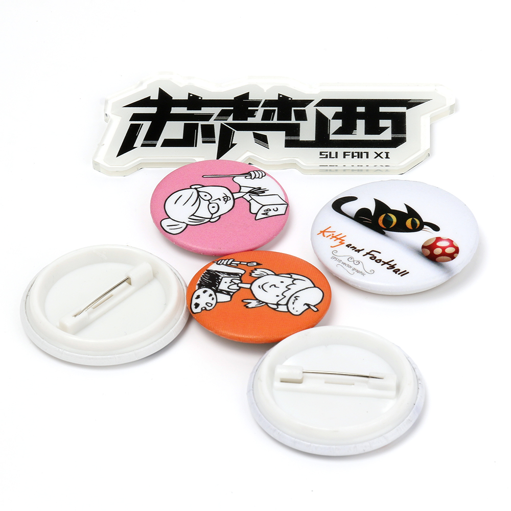 High quality cheap vograce anime round <strong>metal</strong> tin button <strong>custom</strong> pin <strong>badge</strong>