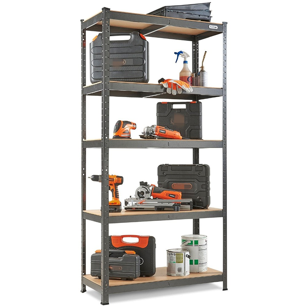 Warehouse metal shelving units storage shelf rack 90cm wide 265KG