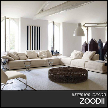 4 Piece U Shaped Sectional Sofa View Larger Image