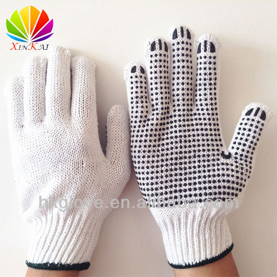 550g/doz One-Side Pvc Dotted Cotton Glove with CE Certificate