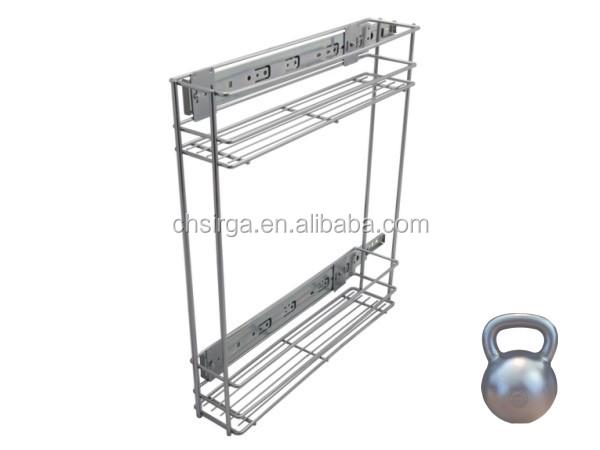 2015 vente chaude cuisine organisateur et tiroir panier m tallique avec toboggan panier de - Keukenkast outs ...