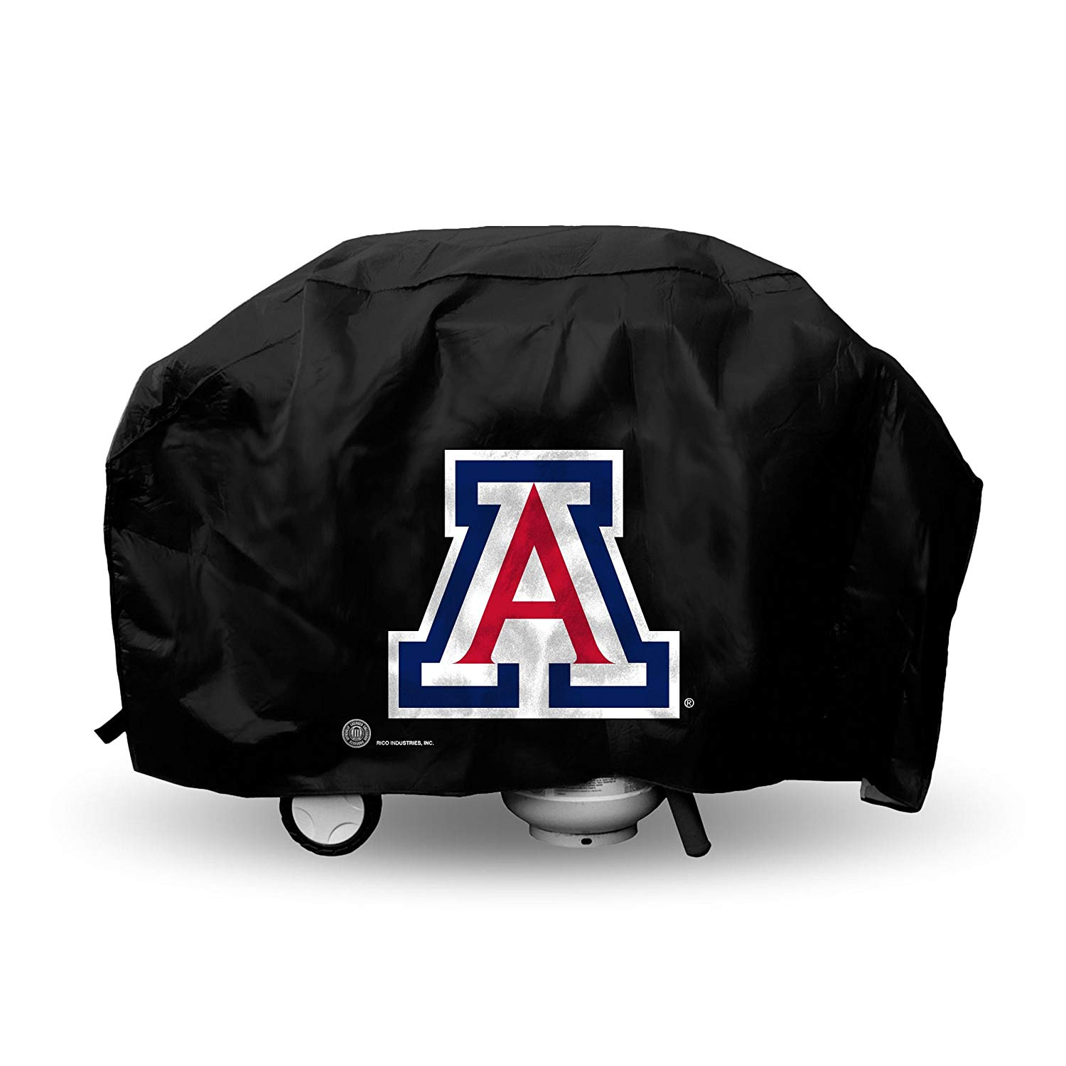 N&T 1 Piece Wildcats Outdoor Camping Grill Cover 68 Inch, Football Themed Bbq Cover Large Durable Patio Barbecue Cover Team Logo Fan Merchandise Athletic Fan Black, Hook loop Closure Vinyl
