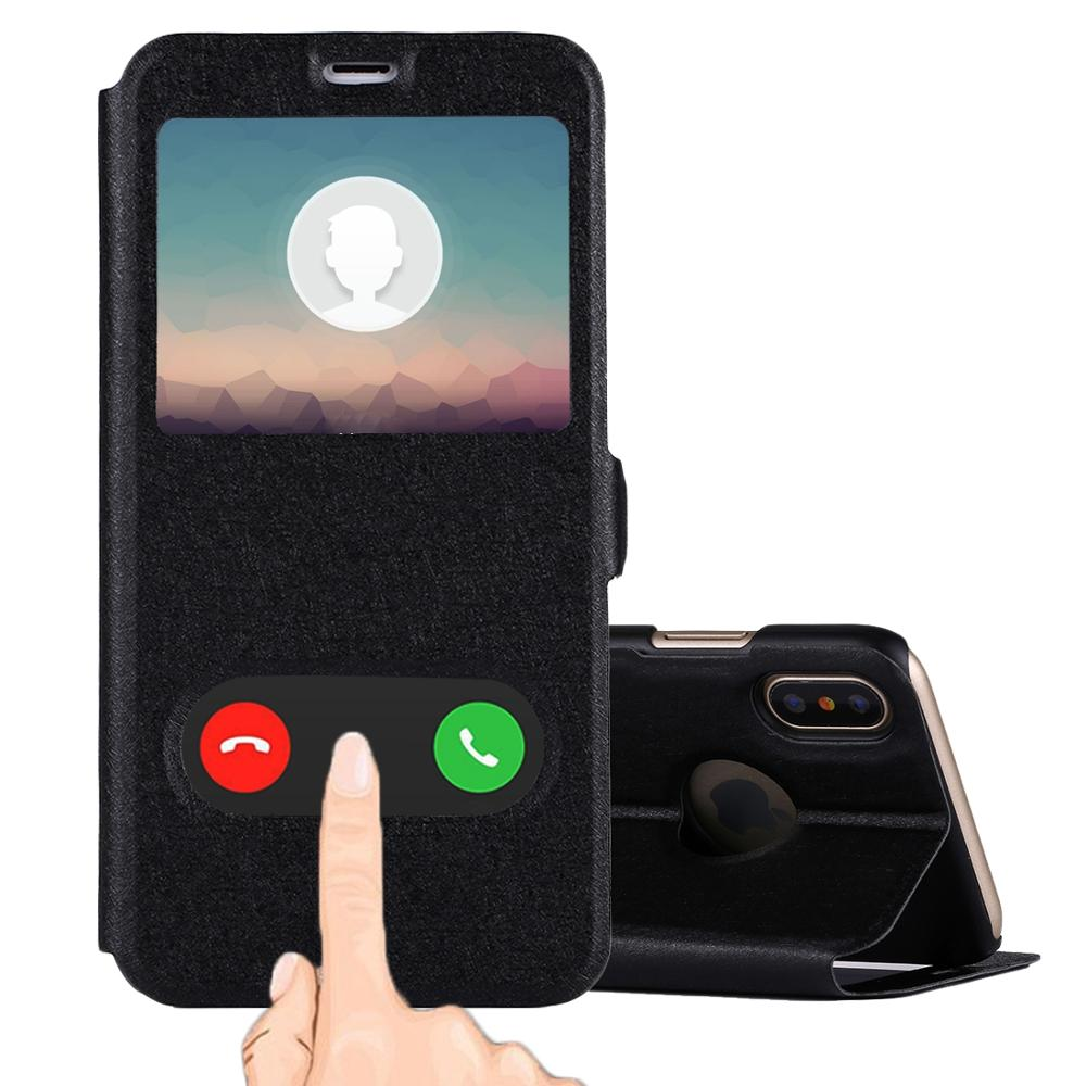 designer fashion 62407 c7cac For Iphone X Mobile Phone Case Flip Leather Cover With Call Display Id &  Sleep / Wake-up Function - Buy For Iphone X Case,Mobile Phone Case,Leather  ...