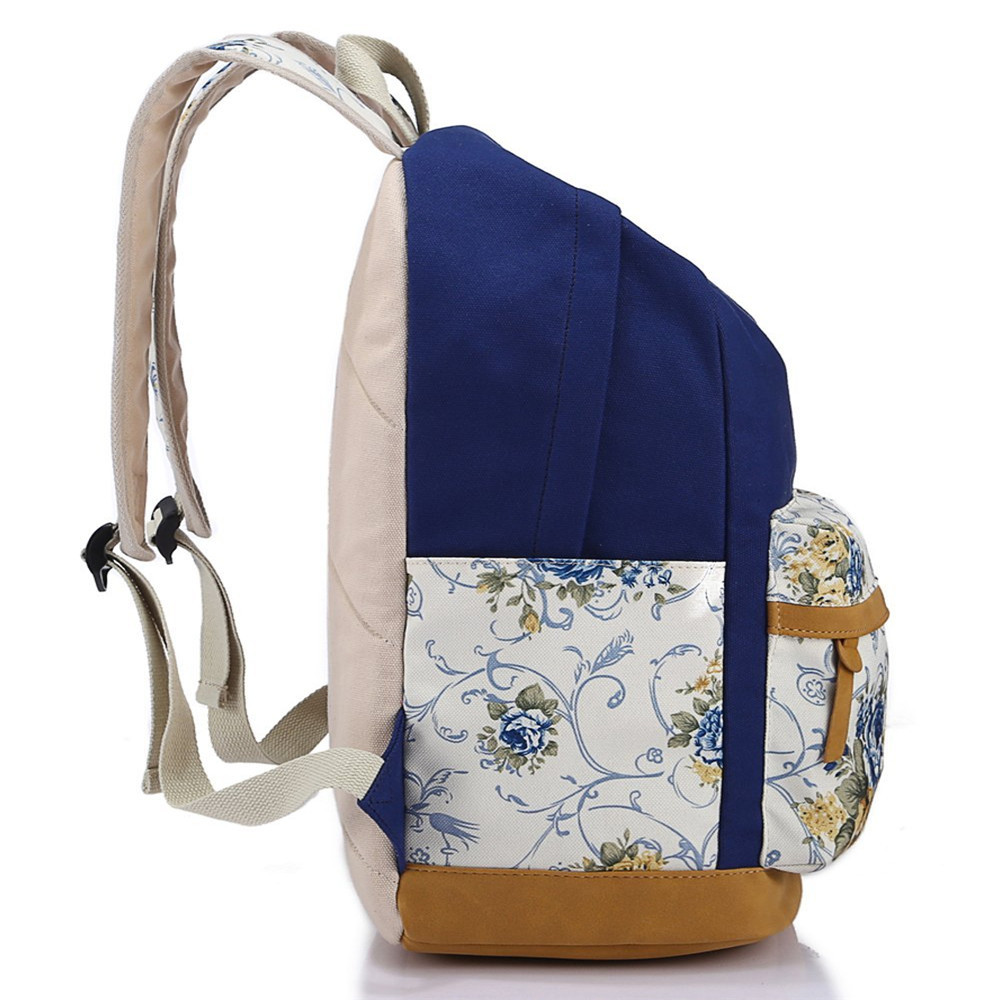 Leaper Casual Style Lightweight Canvas Laptop Backpack Cute Travel ...