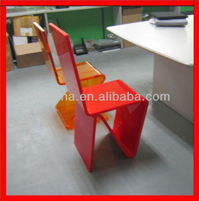 Jad-348 Red Z Feet Acrylic Dining Chair,Roche Bobpis Acryiic Choir ...