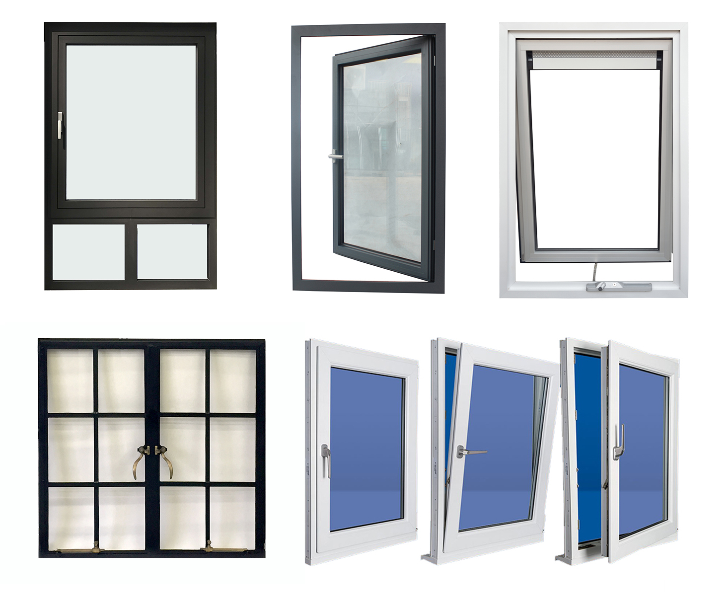 commercial system double glazed insulating glass shutter windows