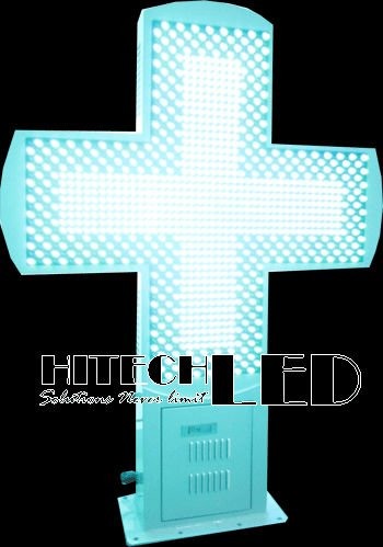 80X80 P16 RGB FULL COLOR LED CROSS,LED PHARMACY CROSS DISPLAY,croix de pharmacie