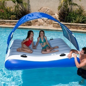Water Entertainment Play Inflatable Swimming Pool Float Mattress With Roof Buy Pool Float