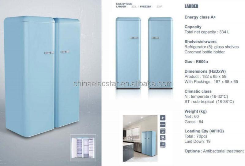 Household Double Door Retro Refrigerator, Home Fridge,retro Style Fridge,home  Appliance,