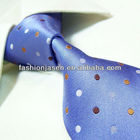 100%Silk purple polka dot make your own tie, silk fabric for tie