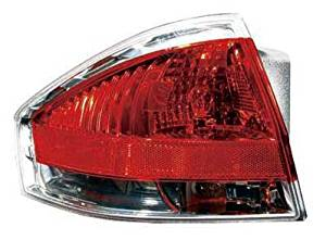 DRIVER SIDE TAIL LIGHT Ford Focus ASSEMBLY WITH CHROME INSERT FOR SEDAN MODELS; FITS COUPE MODEL TO 07/16/2008;