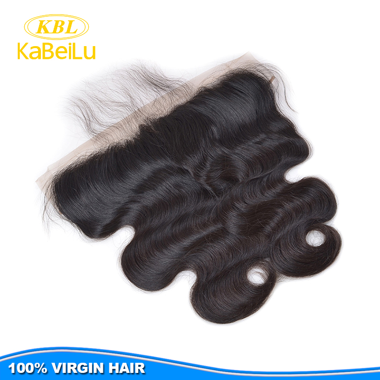 Kabeilu hair human brazilian hair weave frontal closures frontal lace,supply loose wave bundles with closure