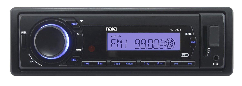 NAXA Electronics NCA-605 Detachable PLL Electronic Tuning Stereo AM/FM Radio MP3 Player