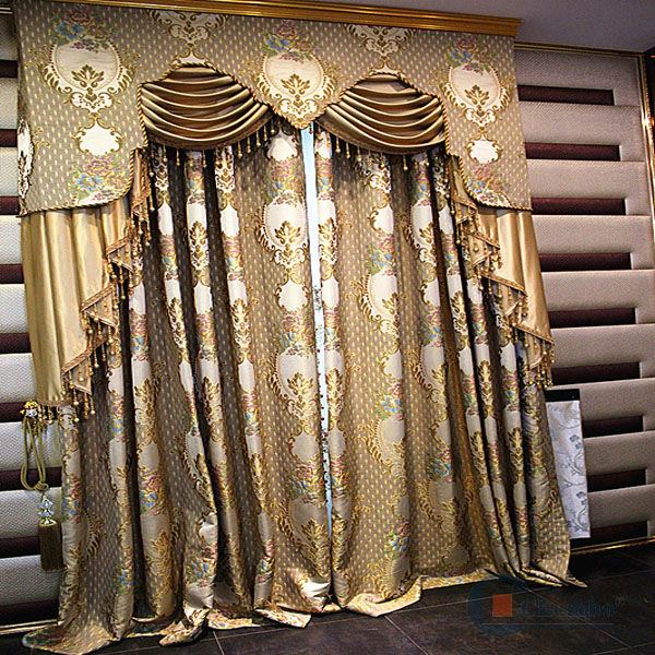 Remote control window thick curtain designs persian style fabric