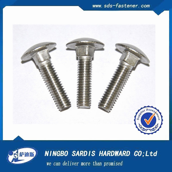 Alibaba China fastener products Flat Countersunk Head Square ZP Neck carriage bolt