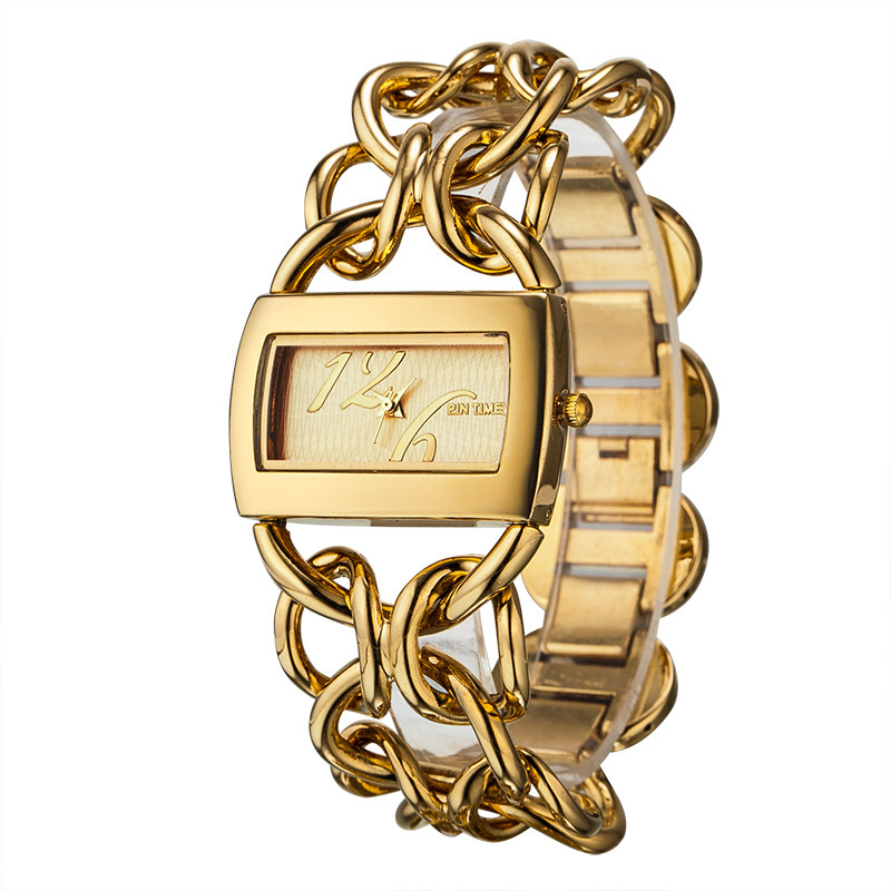 PIN TIME 2015 New Women Fashion Watch Luxury  casual Gold Bracelet Watch Women Analog Display Quartz Watch