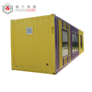 Modern flat roof customized container house inside buy from China alibaba store