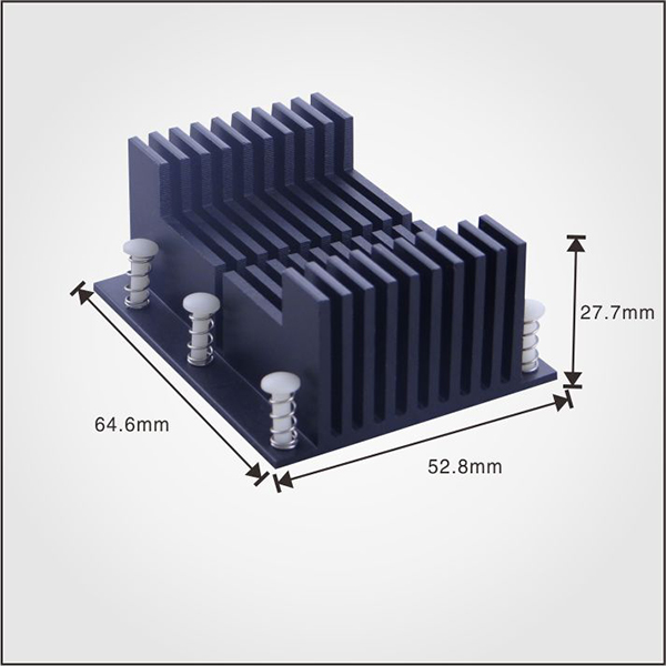 Customized aluminum extrusion profile heat sink for electronic charger
