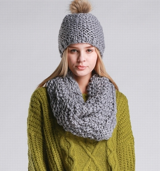 S3267 New 2018 Winter Chunky Knit Women Girls Wholesale Hats And