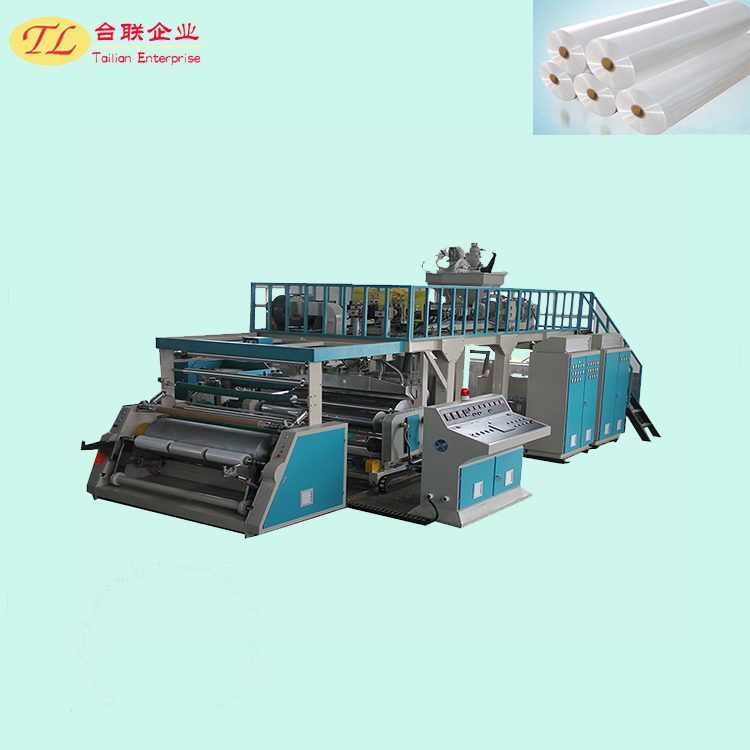 Long life service top qulity three screw stretch film machine