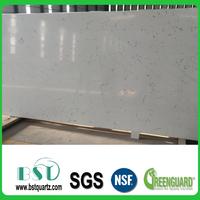 Best Prices White Carrara Artificial Marble Quartz Stone Slab