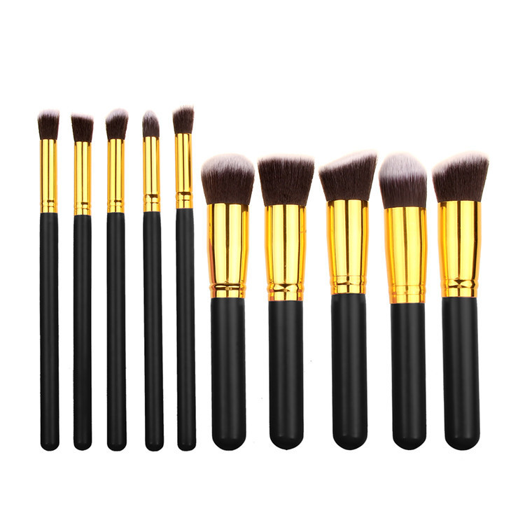 DHL Gratis verzending Professionele Foundation Brush 8 kleuren Make-Up Kwasten Set cosmetische Gereedschap Kit 10 stks Make-Up Kwasten Set