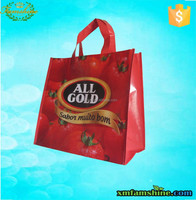 promotion laminated non woven shopping tote bag