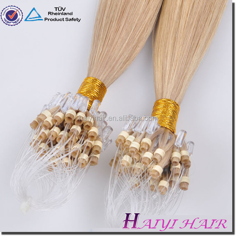 New Arrival Fusion Human Hair Extensions white hair extention micro ring