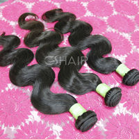 2014 No tangle and No shed,No chemical processed Double weft brazilian brazilian hair 3 pcs lot free shipping