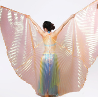 Hot New Fancy Butterfly Opening High Quality Performance Isis Belly Dance Wings for Sale (DJ1010)