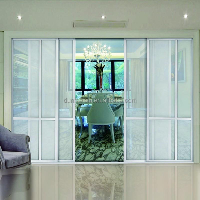 Modern Popular Aluminium Glass Partition Sliding Door For Office