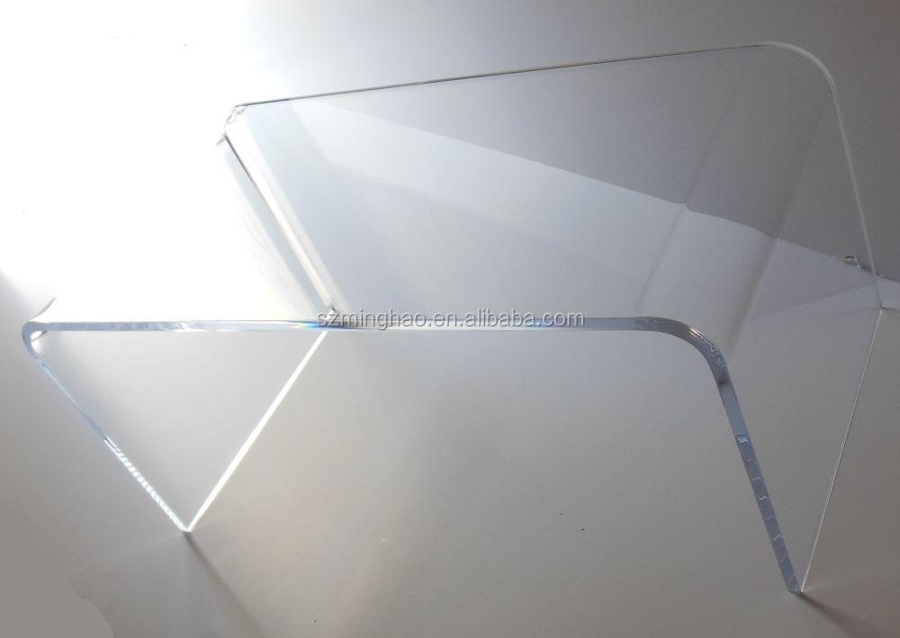 Clear Acrylic Coffee TableLucite U Shaped Desk Coffee Table