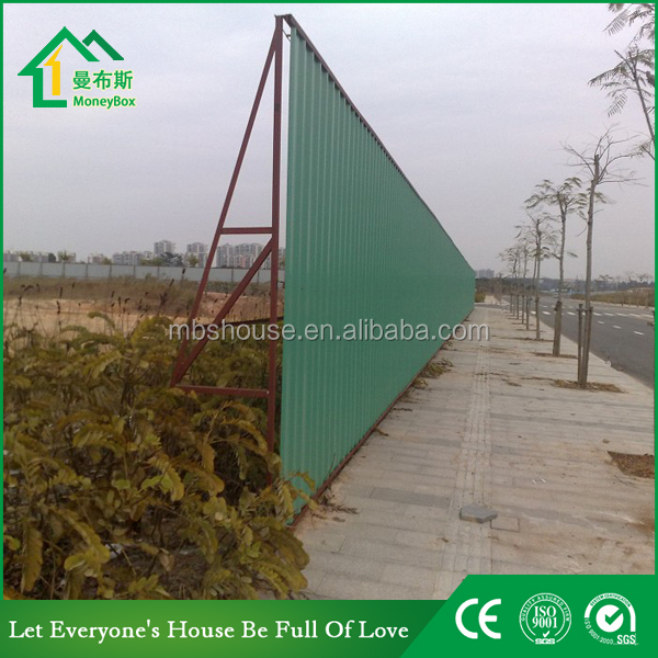 Good quality light steel structure wall board / iron sheet partition panel