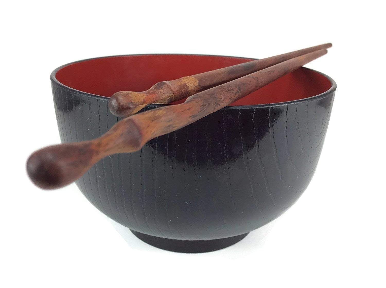 Chopsticks Red Wood Unique Wood Gain Handmade Round Shape Chopstick