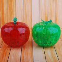 Apple Crystal blocks DIY 3d stereoscopic crystal puzzle children's novelty toy 3d puzzle