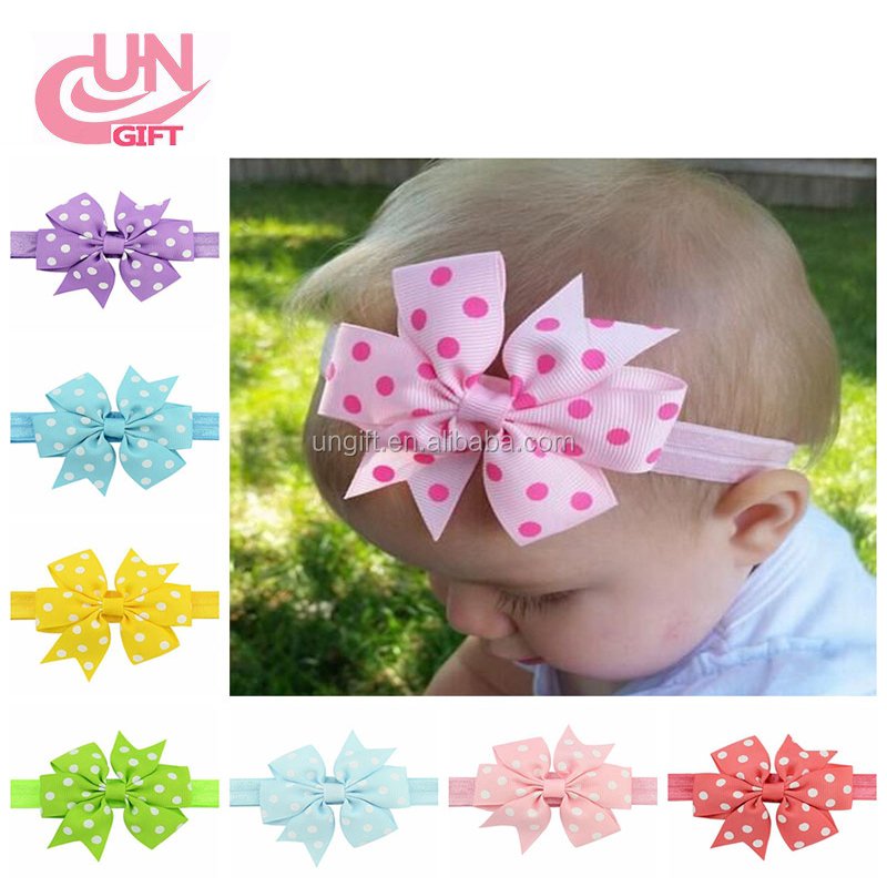 Baby Girl Headbands with Bow Cute Elastic Hair Wrap for Newborn Infant Toddler