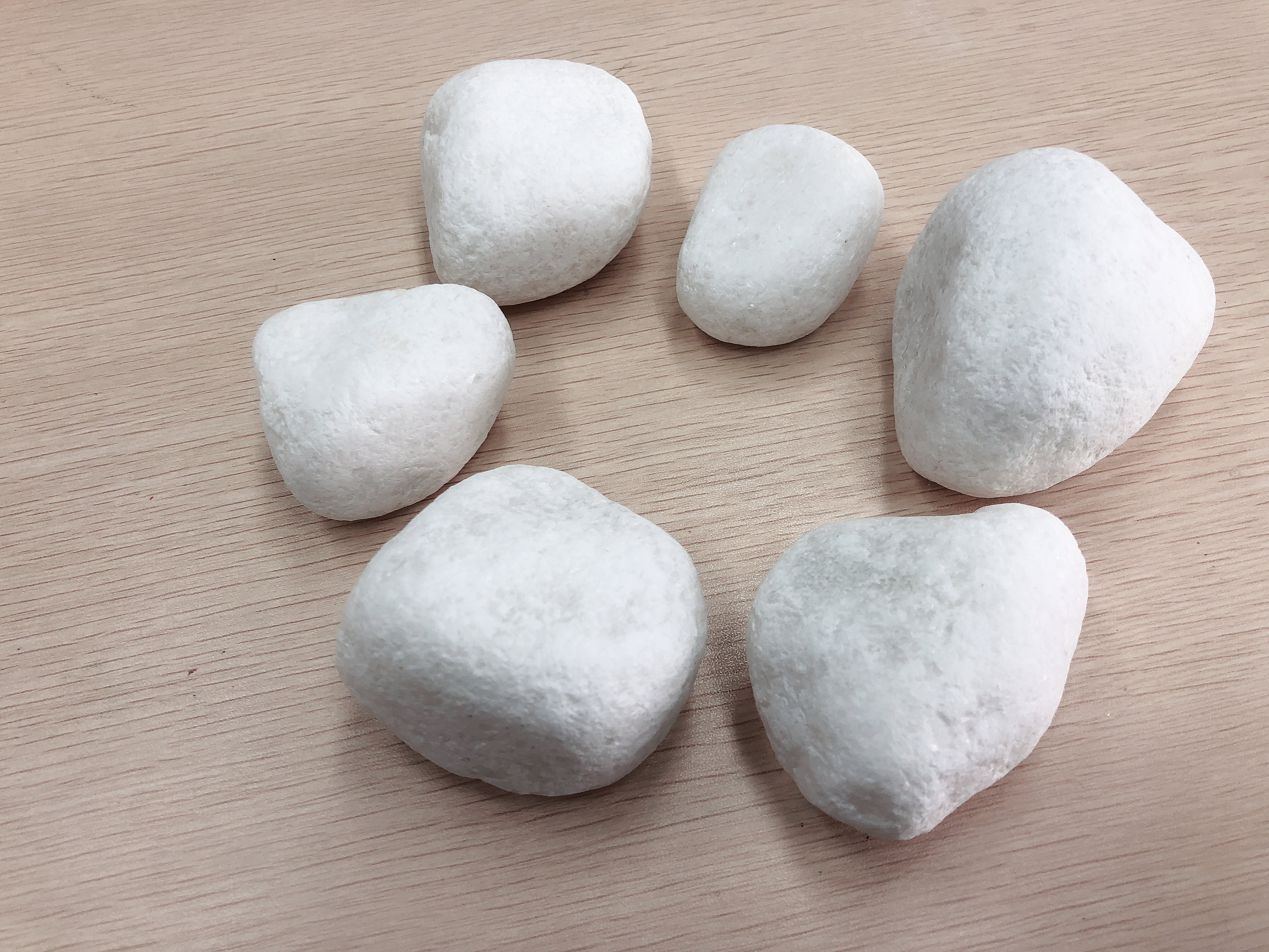 china snow white pebbles marble material garden decorative stone