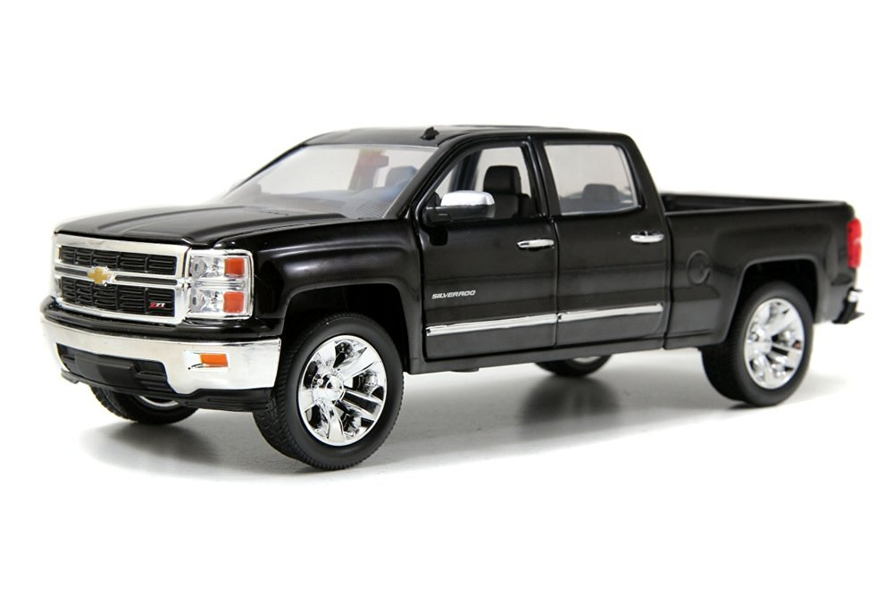 Chevy Silverado Pickup Truck, Black - Jada Toys Just Trucks 97018 - 1/24 scale Diecast Model Toy Car